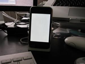 wit scherm iphone